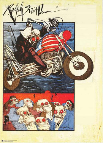 Ralph Steadman Gonzo Motorcycle Poster