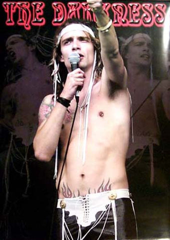 THE DARKNESS JUSTIN SINGER MIC 24x34 POSTER
