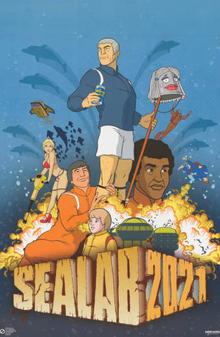 Sealab 2021 Cast Adult Swim Cartoon Net TV 23x34 Poster