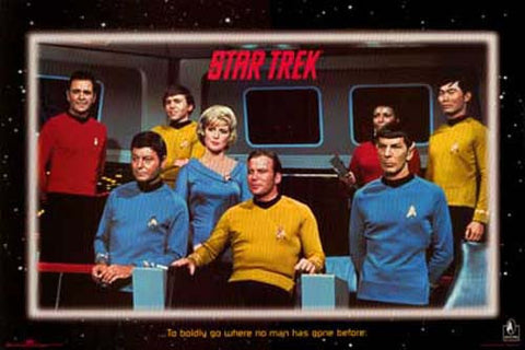 Star Trek TV Show Cast Poster