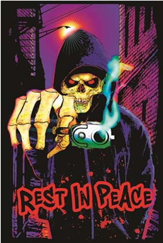 Rest in Peace Mean Reaper 23x35 Blacklight Poster