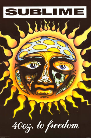 Sublime 40oz to Freedom Sun Poster 24x36