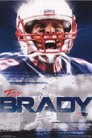 New England Patriots Tom Brady NFL Football Poster