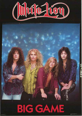 White Lion Big Game Band Poster