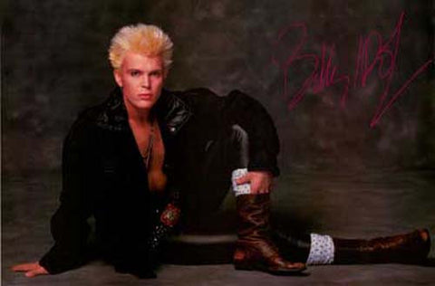 Billy Idol Portrait Poster