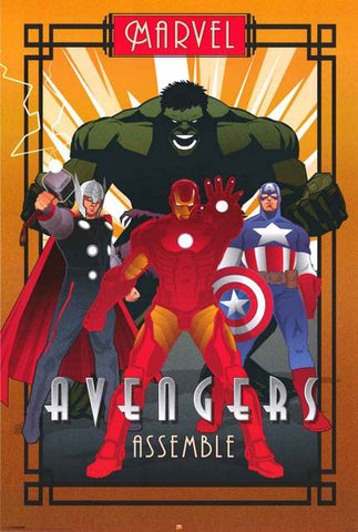 The Avengers Marvel Comics Poster