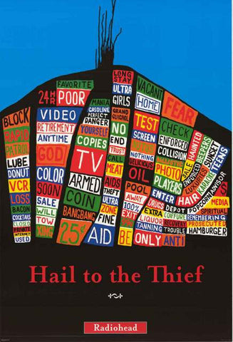 Radiohead Hail to the Thief Poster