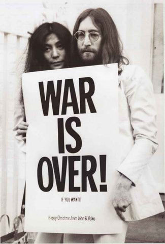John Lennon Yoko Ono War Is Over Poster
