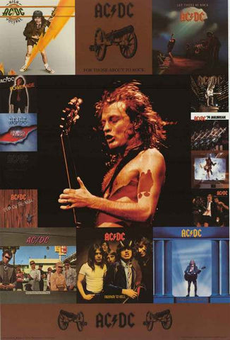 AC/DC Album Covers Poster
