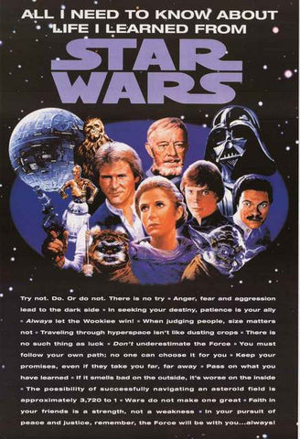 Star Wars Movie Quotes Poster
