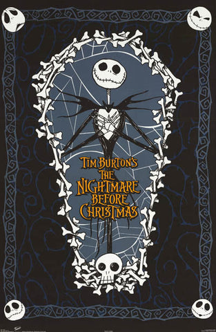 Nightmare Before Christmas Coffin Movie Poster 22x34 – BananaRoad