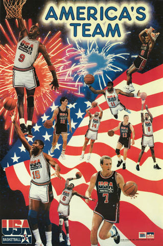 Dream Team 1992 Olympic Basketball Poster