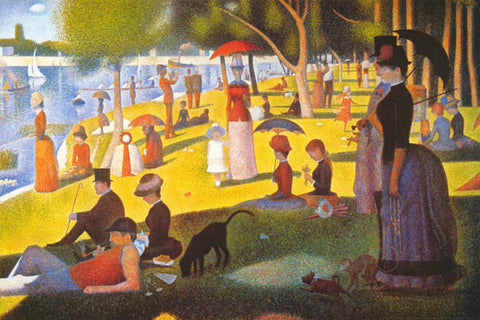 Georges Seurat A Sunday Afternoon Poster