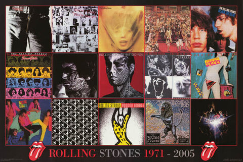 Rolling Stones Album Covers Poster