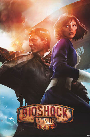 Bioshock Infinite Booker and Elizabeth Video Game Poster 24x36