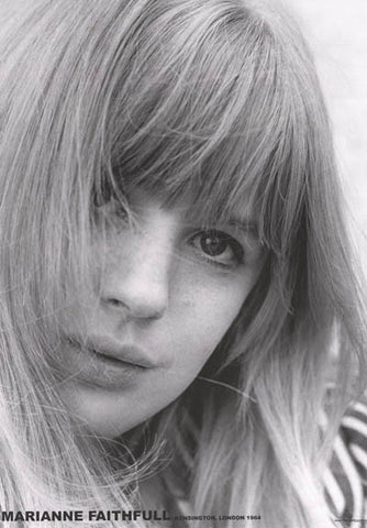Marianne Faithful Portrait Poster