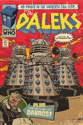 Doctor Who Comic Book Poster