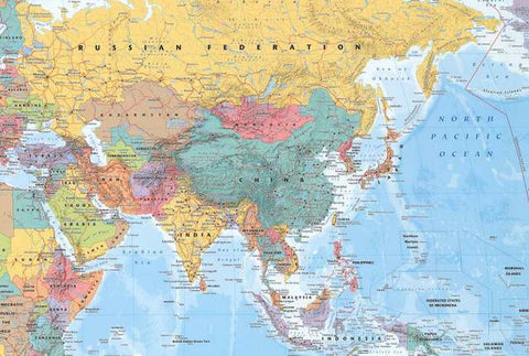 Map of Eastern Hemisphere Poster