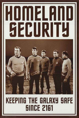 Star Trek Homeland Security Poster