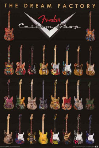Fender Guitars Poster