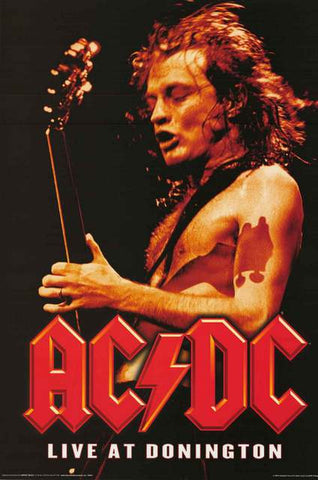 AC/DC Live at Donington Poster
