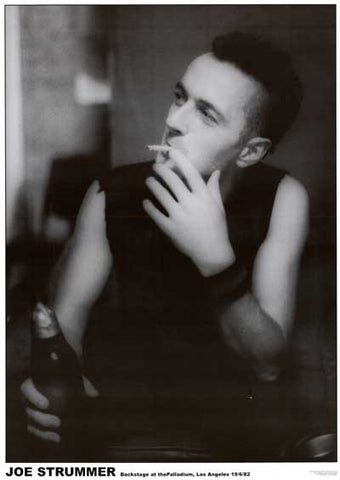 Joe Strummer The Clash Palladium Poster