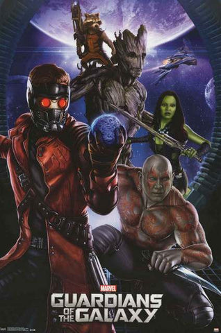 Guardians of the Galaxy Marvel Comics Poster