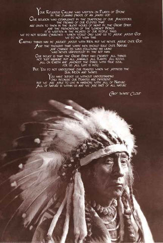 Chief White Cloud Quote Poster