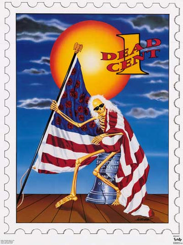 Grateful Dead One Dead Cent Stamp 1991 22x29 Poster