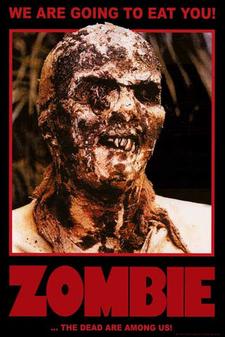 Lucio Fulci Zombie Movie Poster