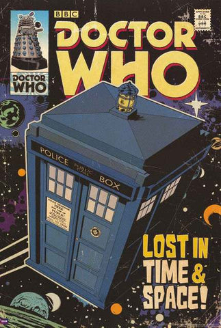 Doctor Who TARDIS Comic Book Poster
