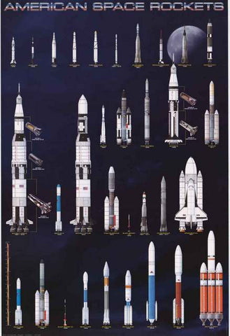 American Space Rockets Poster