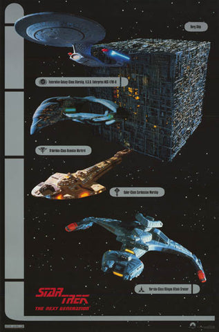Star Trek Next Generation Ships Poster