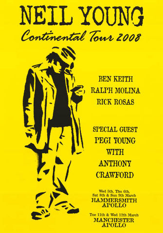 Neil Young European Tour Poster