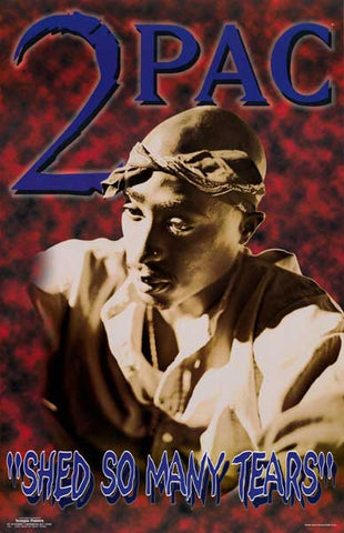 Tupac Shakur 2Pac Shed So Many Tears 22x34 Poster