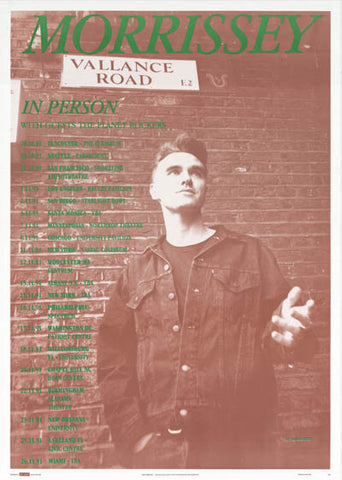 Morrissey Vallence Road Tour UK The Smiths 24x36 Poster