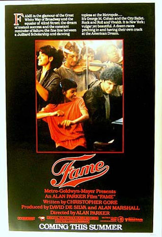 FAME IRENE CARA MOVIE 27x40 POSTER