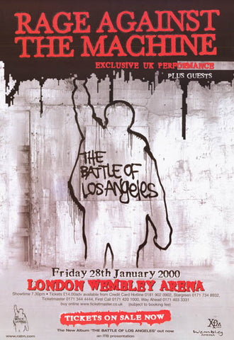 Rage Against the Machine Los Angeles UK 24x34 Poster