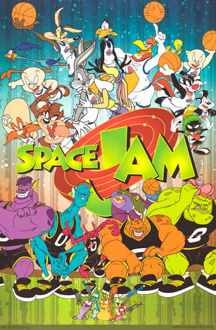 Space Jam - Cartoon Poster 22x34
