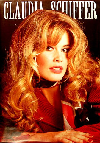 CLAUDIA SCHIFFER RED HEAD Orig 1993 25x35 POSTER