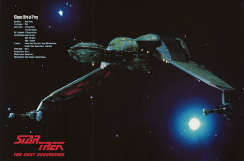 Star Trek Klingon Bird of Prey Poster