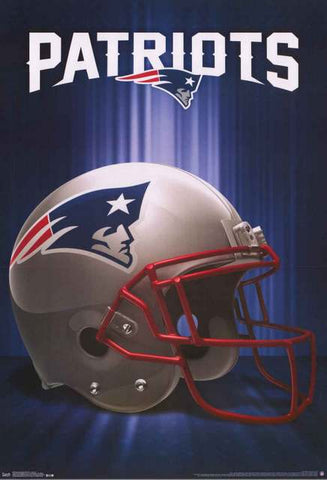 New England Patriots NFL Football Poster
