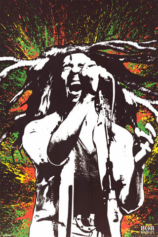 Bob Marley Color Splash Art Poster 24x36