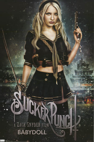 Sucker Punch Baby Doll Emily Browning 22x34 Poster