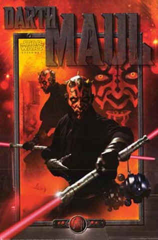 Star Wars Darth Maul Collage Episode I 24x36 Poster