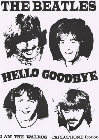 Beatles Hello Goodbye Walrus Mystery Tour 23x33 Poster