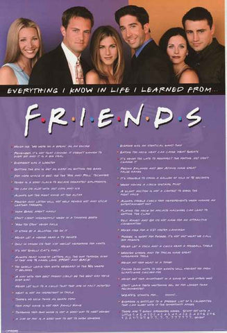 Friends TV Show Quotes Poster