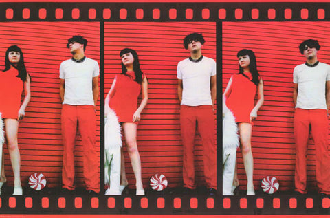 White Stripes Film Strip Jack & Meg White 24x36 Poster