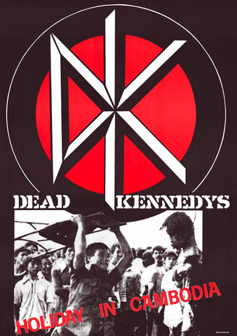 Dead Kennedys Holiday in Cambodia Poster 23x33