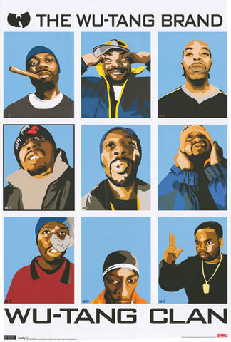 Wu-Tang Clan Pop Art Poster